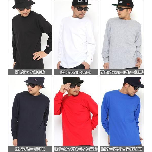 チャンピオン Tシャツ 長袖 メンズ レディース 大きいサイズ USAモデル|ブランド ロンT 長袖Tシャツ ロゴ アメカジ|f-box|02