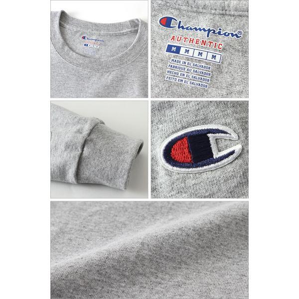 チャンピオン Tシャツ 長袖 メンズ レディース 大きいサイズ USAモデル|ブランド ロンT 長袖Tシャツ ロゴ アメカジ|f-box|03