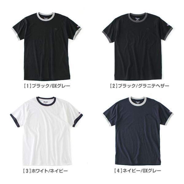 チャンピオン Tシャツ 半袖 無地 メンズ 大きいサイズ USAモデル ブランド 半袖Tシャツ ロゴ アメカジ リンガーTシャツ f-box 02