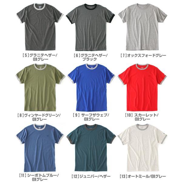 チャンピオン Tシャツ 半袖 無地 メンズ 大きいサイズ USAモデル ブランド 半袖Tシャツ ロゴ アメカジ リンガーTシャツ f-box 03