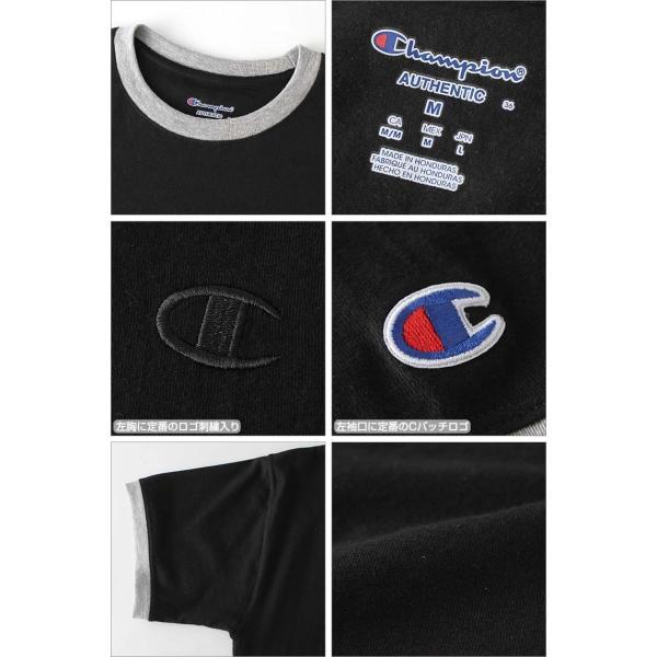 チャンピオン Tシャツ 半袖 無地 メンズ 大きいサイズ USAモデル ブランド 半袖Tシャツ ロゴ アメカジ リンガーTシャツ f-box 04