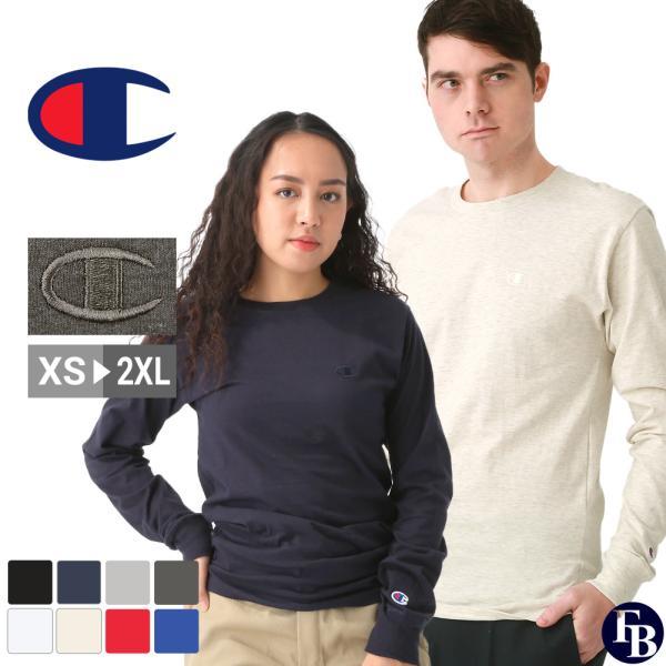 チャンピオン Tシャツ 長袖 メンズ 大きいサイズ USAモデル|ブランド ロンT 長袖Tシャツ ロゴ アメカジ|f-box