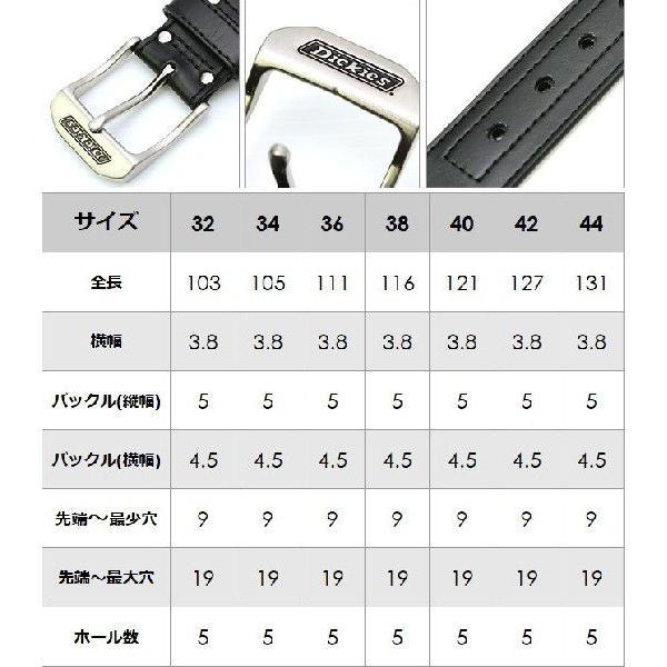 ディッキーズ ベルト メンズ 本革 レザー D102M1 大きいサイズ USAモデル Dickies カジュアル ロング f-box 02