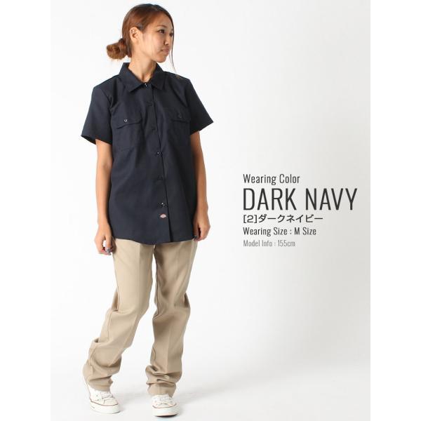 [レディース] ディッキーズ シャツ ワークシャツ 半袖 ストレッチ 大きいサイズ FS574F|フレックス ブランド アメカジ カジュアル|f-box|11
