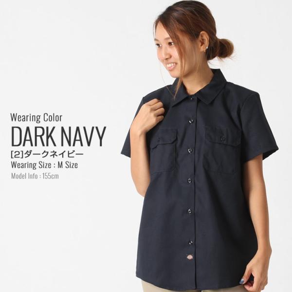 [レディース] ディッキーズ シャツ ワークシャツ 半袖 ストレッチ 大きいサイズ FS574F|フレックス ブランド アメカジ カジュアル|f-box|12