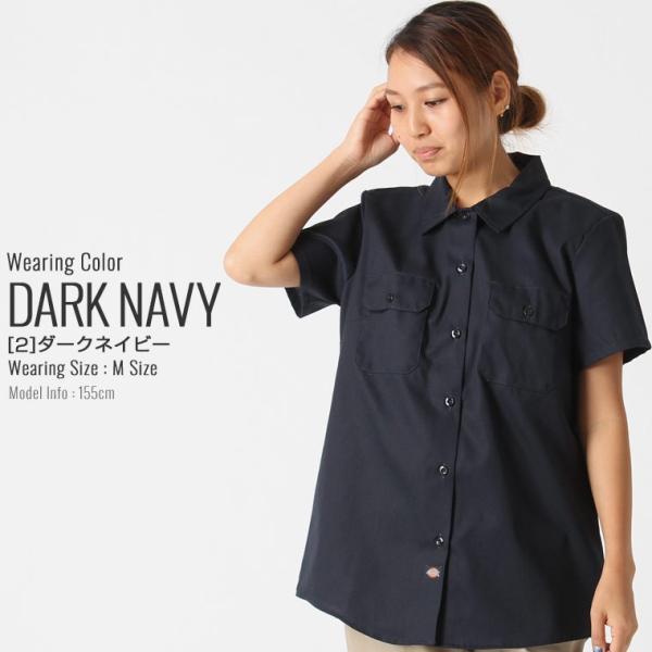 [レディース] ディッキーズ シャツ ワークシャツ 半袖 ストレッチ 大きいサイズ FS574F|フレックス ブランド アメカジ カジュアル|f-box|14