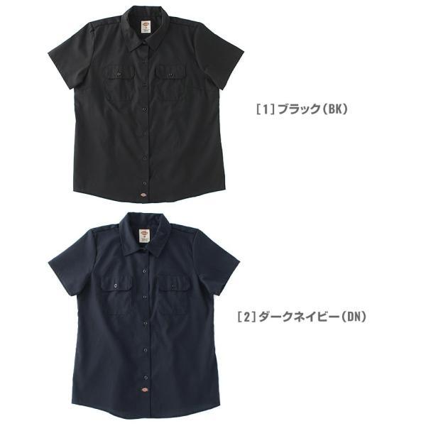 [レディース] ディッキーズ シャツ ワークシャツ 半袖 ストレッチ 大きいサイズ FS574F|フレックス ブランド アメカジ カジュアル|f-box|03
