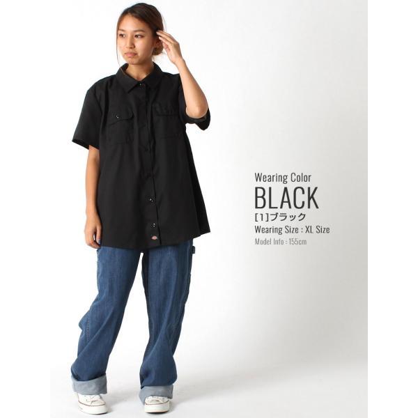 [レディース] ディッキーズ シャツ ワークシャツ 半袖 ストレッチ 大きいサイズ FS574F|フレックス ブランド アメカジ カジュアル|f-box|09