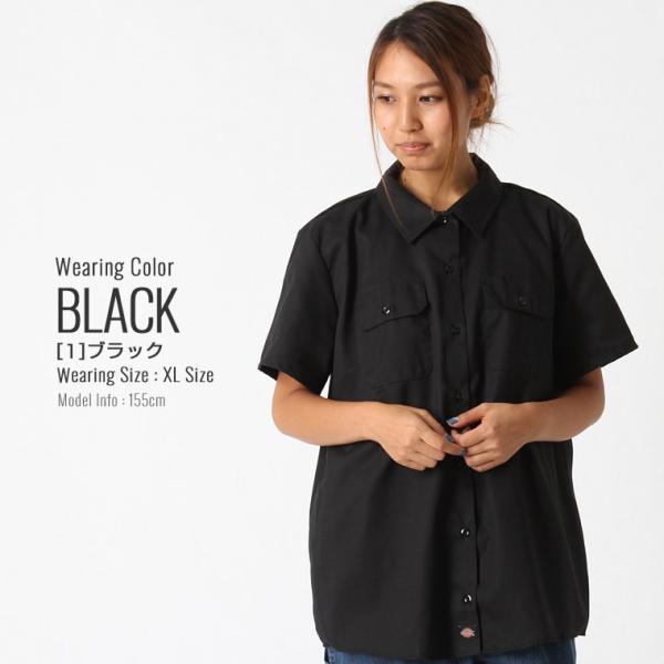 [レディース] ディッキーズ シャツ ワークシャツ 半袖 ストレッチ 大きいサイズ FS574F|フレックス ブランド アメカジ カジュアル|f-box|10