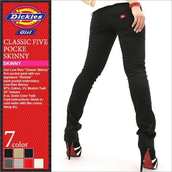 Dickies Girl ディッキーズ ガール スキニーパンツ レディース チノパン カラー スキニー ストレッチ 細身 大きいサイズ レディースファッション (hh164)|f-box