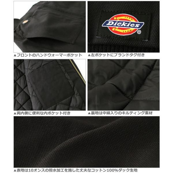 ディッキーズ Dickies ジャケット メンズ 大きいサイズ ディッキーズ アウター ブルゾン ワークジャケット 防寒 アメカジ ブランド|f-box|04