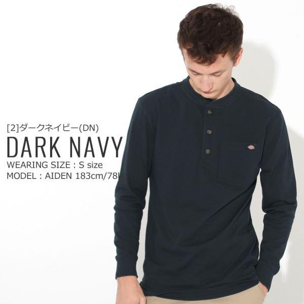 ディッキーズ Tシャツ 長袖 ヘンリーネック WL451 無地 メンズ|大きいサイズ USAモデル Dickies|f-box|11