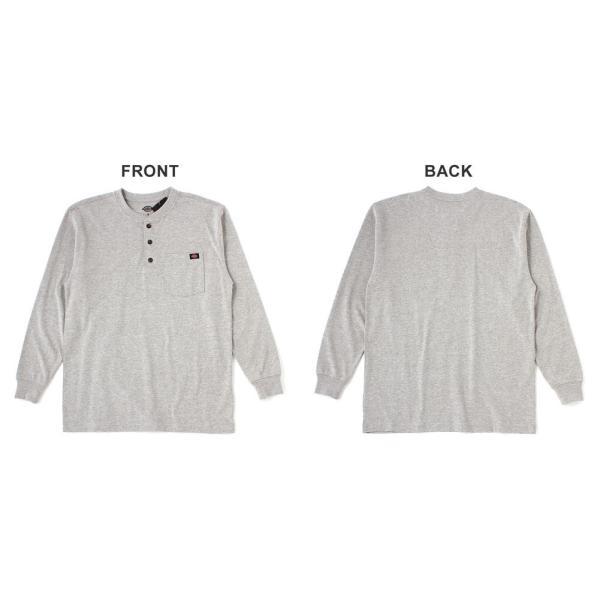 ディッキーズ Tシャツ 長袖 ヘンリーネック WL451 無地 メンズ|大きいサイズ USAモデル Dickies|f-box|08