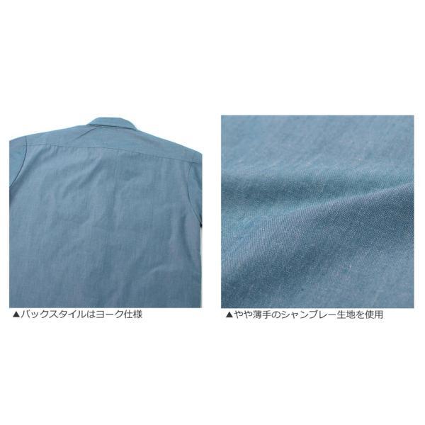 ディッキーズ シャツ 半袖 シャンブレー WL509 メンズ 大きいサイズ USAモデル Dickies 長袖シャツ カジュアルシャツ S M L LL 3L f-box 05