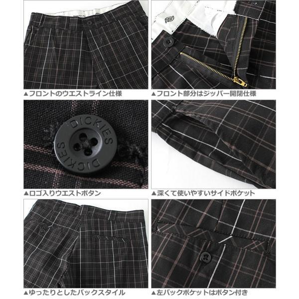 ディッキーズ Dickies ディッキーズ ハーフパンツ メンズ チェック チェック柄 大きいサイズ 短パン ショートパンツ チェックショーツ|f-box|03