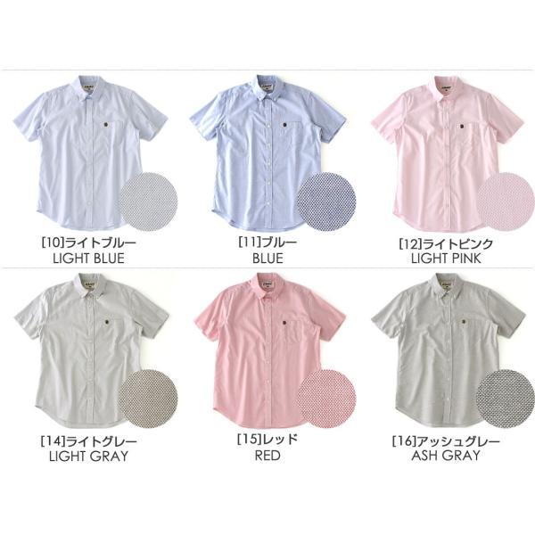 シャツ 半袖 メンズ ボタンダウン オックスフォード 大きいサイズ 日本規格|ブランド EAGLE THE STANDARD イーグル|半袖シャツ|f-box|03