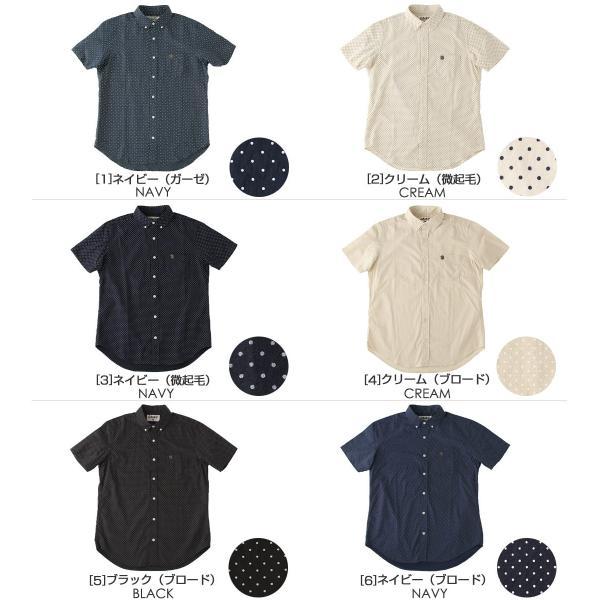 シャツ 半袖 メンズ ボタンダウン ポケット ドット柄 大きいサイズ 日本規格|ブランド EAGLE THE STANDARD イーグル|半袖シャツ カジュアル 2019 春夏 新作|f-box|02