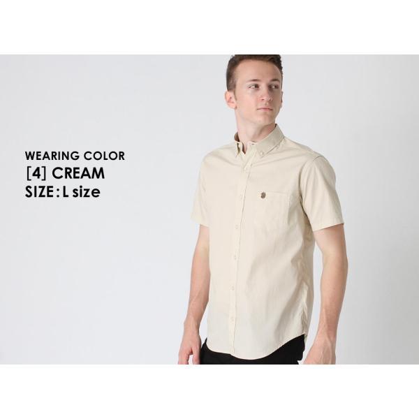 シャツ 半袖 メンズ ボタンダウン ポケット ドット柄 大きいサイズ 日本規格|ブランド EAGLE THE STANDARD イーグル|半袖シャツ カジュアル 2019 春夏 新作|f-box|12