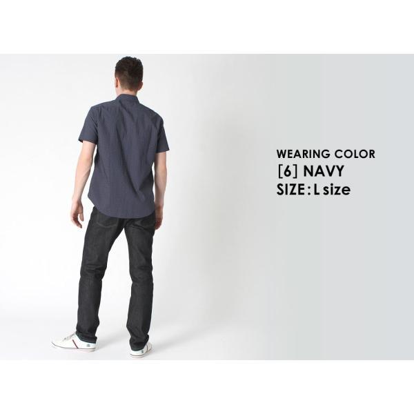 シャツ 半袖 メンズ ボタンダウン ポケット ドット柄 大きいサイズ 日本規格|ブランド EAGLE THE STANDARD イーグル|半袖シャツ カジュアル 2019 春夏 新作|f-box|15