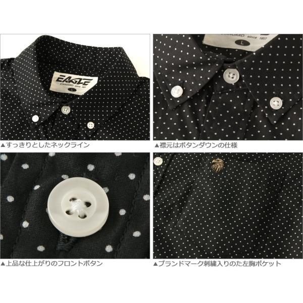 シャツ 半袖 メンズ ボタンダウン ポケット ドット柄 大きいサイズ 日本規格|ブランド EAGLE THE STANDARD イーグル|半袖シャツ カジュアル 2019 春夏 新作|f-box|03