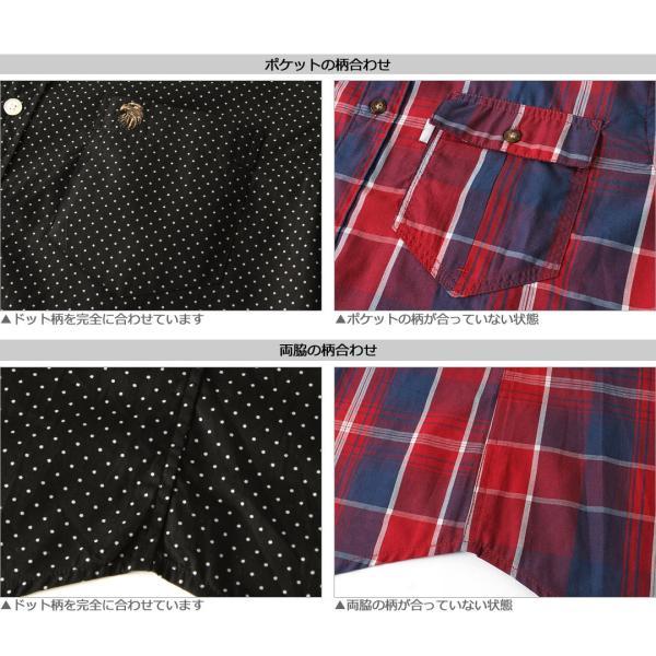 シャツ 半袖 メンズ ボタンダウン ポケット ドット柄 大きいサイズ 日本規格|ブランド EAGLE THE STANDARD イーグル|半袖シャツ カジュアル 2019 春夏 新作|f-box|08