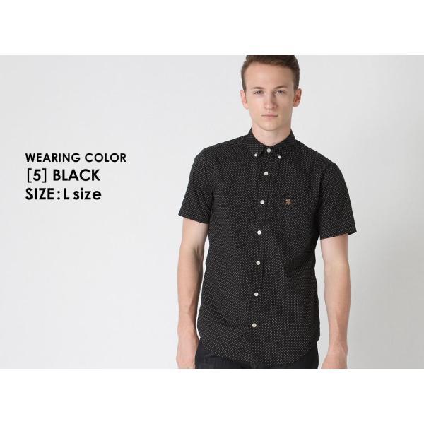 シャツ 半袖 メンズ ボタンダウン ポケット ドット柄 大きいサイズ 日本規格|ブランド EAGLE THE STANDARD イーグル|半袖シャツ カジュアル 2019 春夏 新作|f-box|10