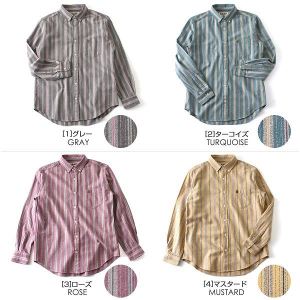 シャツ 長袖 メンズ ボタンダウン ストライプ 大きいサイズ 日本規格 89023|ブランド EAGLE THE STANDARD イーグル|長袖シャツ ワイシャツ Yシャツ カジュアル|f-box|02
