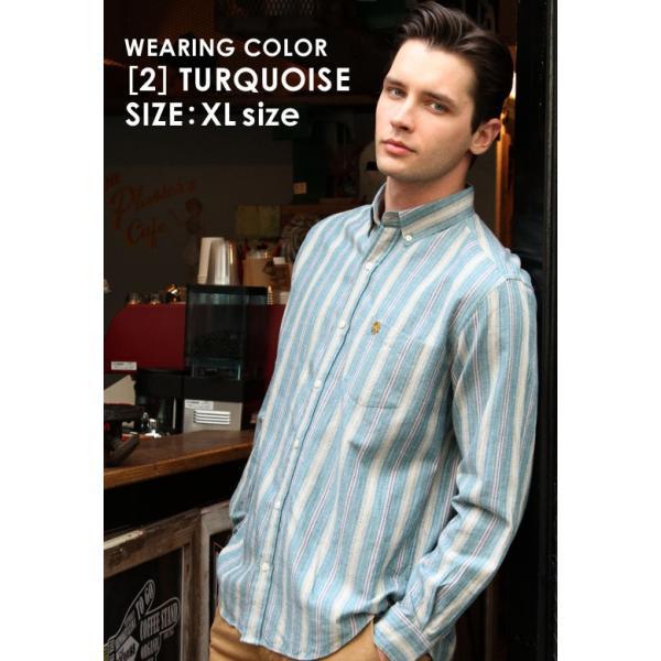 シャツ 長袖 メンズ ボタンダウン ストライプ 大きいサイズ 日本規格 89023|ブランド EAGLE THE STANDARD イーグル|長袖シャツ ワイシャツ Yシャツ カジュアル|f-box|05