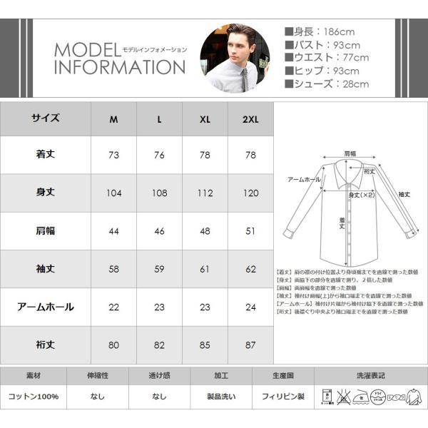 シャツ 長袖 メンズ ボタンダウン ストライプ 大きいサイズ 日本規格 89023|ブランド EAGLE THE STANDARD イーグル|長袖シャツ ワイシャツ Yシャツ カジュアル|f-box|06