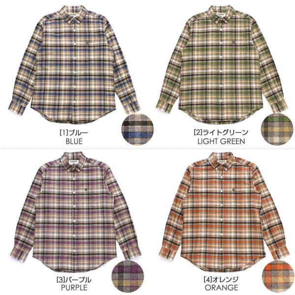 シャツ 長袖 厚手 メンズ ボタンダウン フランネル チェック柄 ネルシャツ 大きいサイズ 日本規格|ブランド EAGLE THE STANDARD イーグル|長袖シャツ|f-box|02