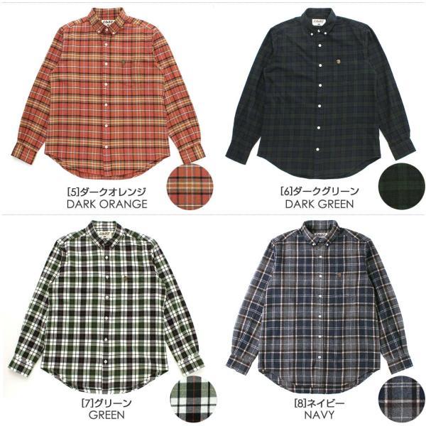 シャツ 長袖 厚手 メンズ ボタンダウン フランネル チェック柄 ネルシャツ 大きいサイズ 日本規格|ブランド EAGLE THE STANDARD イーグル|長袖シャツ|f-box|03