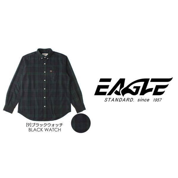 シャツ 長袖 厚手 メンズ ボタンダウン フランネル チェック柄 ネルシャツ 大きいサイズ 日本規格|ブランド EAGLE THE STANDARD イーグル|長袖シャツ|f-box|04