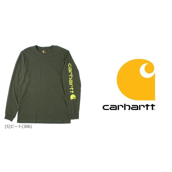 カーハート ロンT 袖ロゴ メンズ Tシャツ 長袖 6.75oz 大きいサイズ k231 USAモデル│ブランド 長袖Tシャツ アメカジ|f-box|07