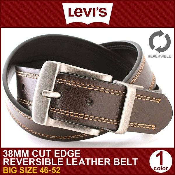 リーバイス ベルト リバーシブル 回転式バックル 大きいサイズ USAモデル|ブランド Levi's Levis|本革 レザー アメカジ カジュアル|f-box