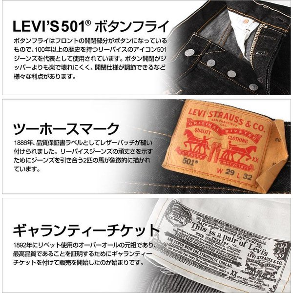 リーバイス 501 リジッド ブラック ボタンフライ ストレート 大きいサイズ USAモデル ブランド Levi's Levis ジーンズ デニム Levi's 501 アメカジ カジュアル f-box 07