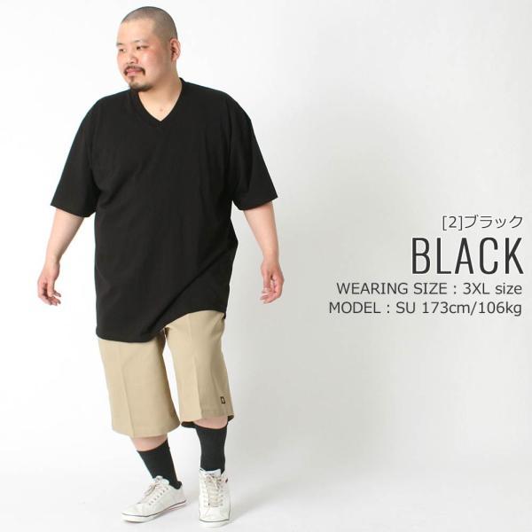 [ビッグサイズ] プロクラブ Tシャツ 半袖 Vネック コンフォート 無地 メンズ 大きいサイズ 106 USAモデル|ブランド PRO CLUB|半袖Tシャツ アメカジ|f-box|12