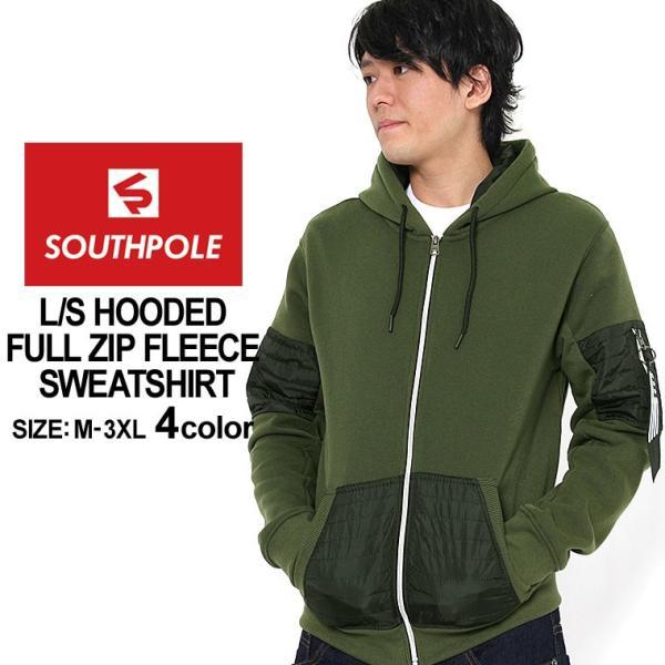 サウスポール パーカー ジップアップ メンズ 裏起毛 大きいサイズ USAモデル ブランド SOUTH POLE スウェット XL XXL LL 2L 3L f-box