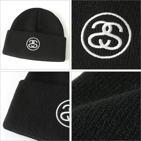 ステューシー ニット帽 メンズ|大きいサイズ USAモデル ブランド STUSSY|ニットキャップ カフニット ビーニー ストリート|f-box|03