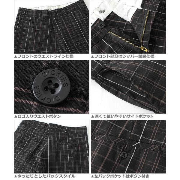 ディッキーズ Dickies ハーフパンツ メンズ チェック チェック柄 大きいサイズ 短パン ショートパンツ チェックショーツ|f-box|03