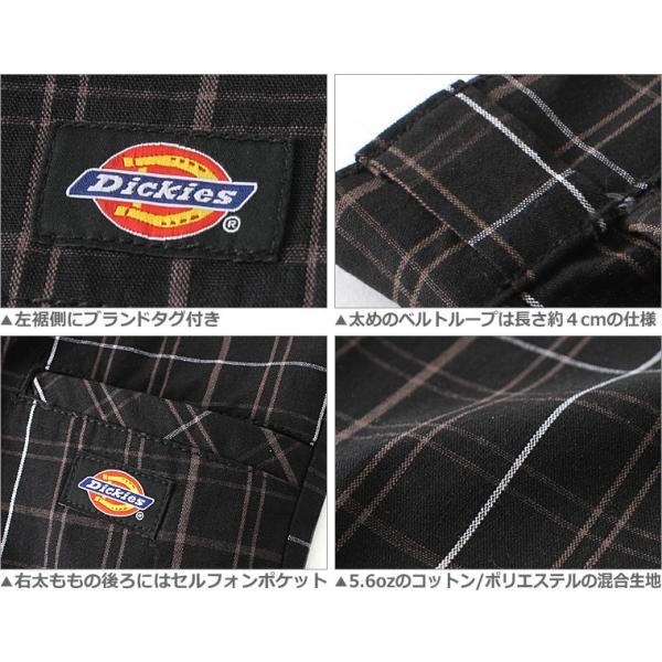 ディッキーズ Dickies ハーフパンツ メンズ チェック チェック柄 大きいサイズ 短パン ショートパンツ チェックショーツ|f-box|04