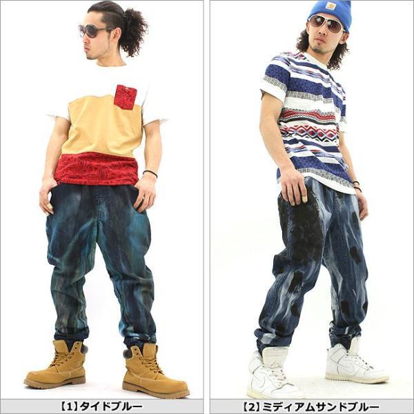 ジョガーパンツ デニム/ジョガーパンツ メンズ/大きいサイズ/ジーンズ/デニム/サルエルパンツ デニム/メンズ/ストリート/ダンス|f-box|02
