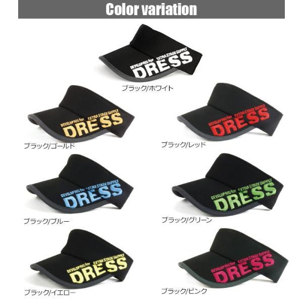 サンバイザー キャップ メンズ レディース DRESS オリジナルサンバイザー ブラックVer.|f-dress|02