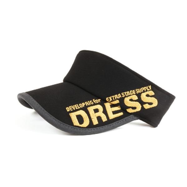 サンバイザー キャップ メンズ レディース DRESS オリジナルサンバイザー ブラックVer.|f-dress|11