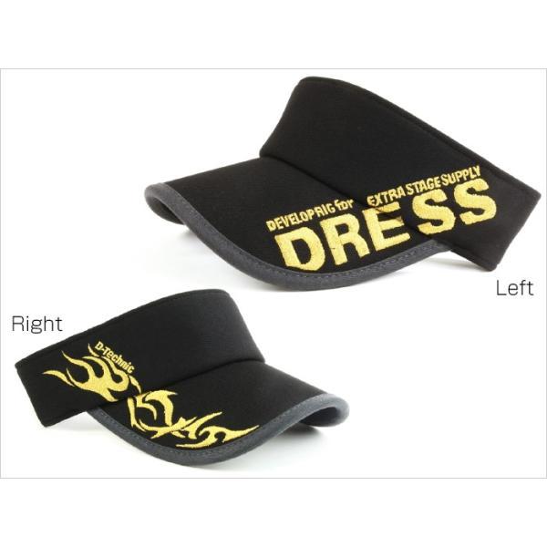 サンバイザー キャップ メンズ レディース DRESS オリジナルサンバイザー ブラックVer.|f-dress|03