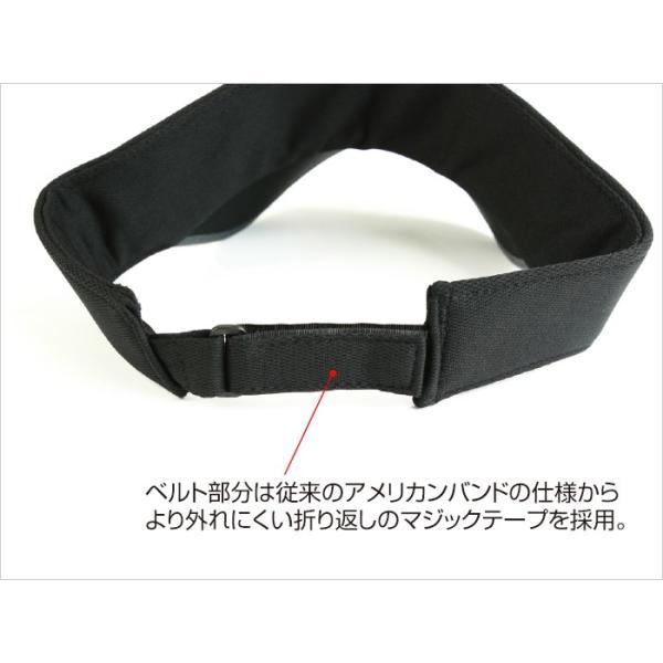サンバイザー キャップ メンズ レディース DRESS オリジナルサンバイザー ブラックVer.|f-dress|04