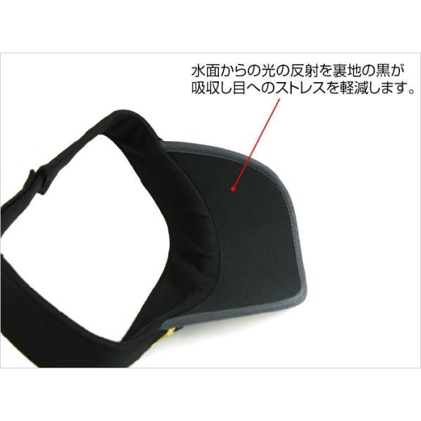 サンバイザー キャップ メンズ レディース DRESS オリジナルサンバイザー ブラックVer.|f-dress|05