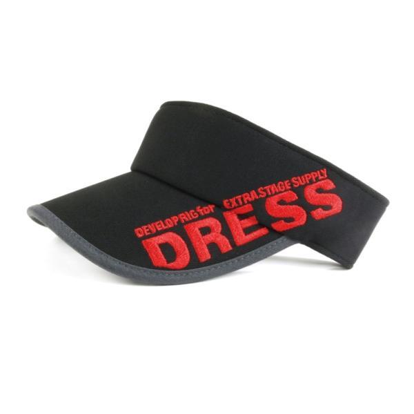 サンバイザー キャップ メンズ レディース DRESS オリジナルサンバイザー ブラックVer.|f-dress|06