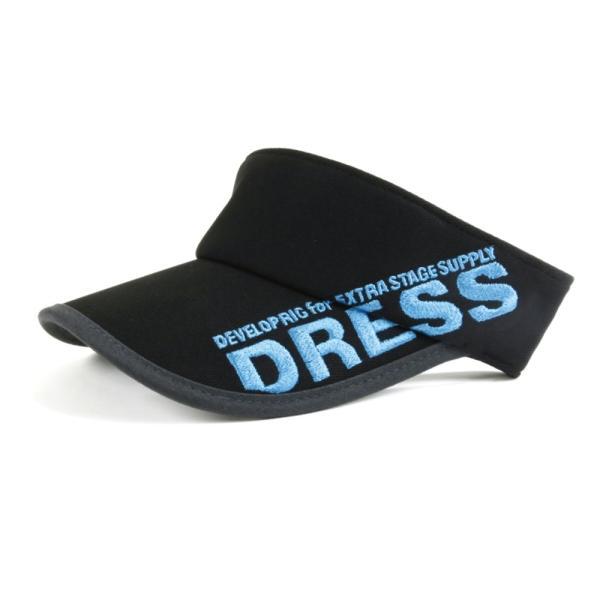サンバイザー キャップ メンズ レディース DRESS オリジナルサンバイザー ブラックVer.|f-dress|07