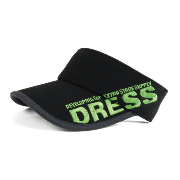 サンバイザー キャップ メンズ レディース DRESS オリジナルサンバイザー ブラックVer.|f-dress|08