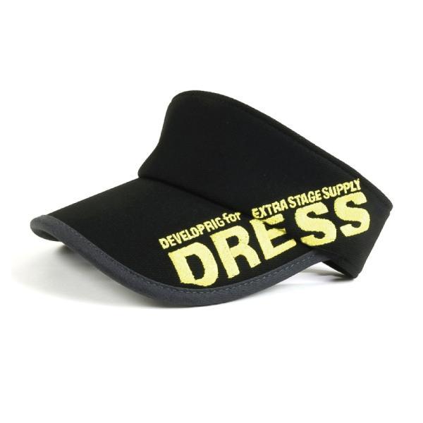 サンバイザー キャップ メンズ レディース DRESS オリジナルサンバイザー ブラックVer.|f-dress|09